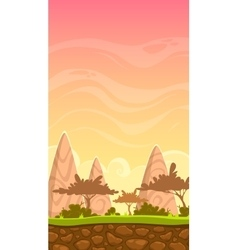 Cartoon savanna landscape vector