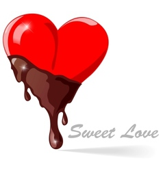 chocolate hearts - vector image