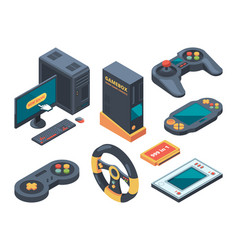 console and computer systems and gadgets vector image