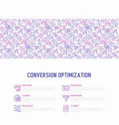 conversion optimization concept vector image