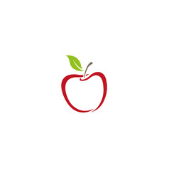 Creative abstract apple logo vector