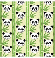 Cute cartoon panda vector image