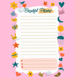 daily planner to do list note paper vector image