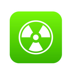 danger nuclear icon digital green vector image