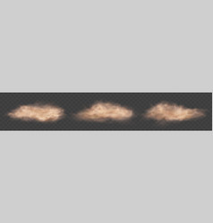 dust cloud fog with flying particles brown mud vector image