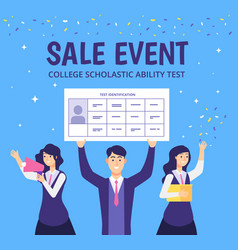 Examinees discount event students academic skills vector