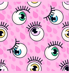 eyeball pattern fashion background vector image