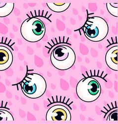 Eyeball pattern fashion background vector