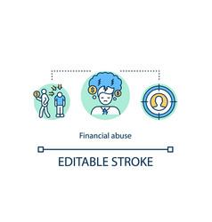 Financial abuse concept icon vector