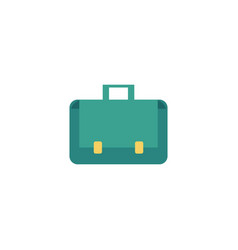 flat briefcase business case bag icon vector image