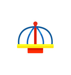 Flat icon children s roundabout or merry vector