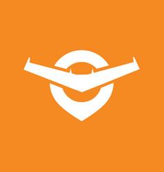 flying spot logo vector image
