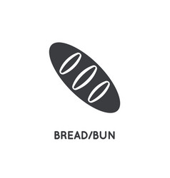 fresh bread glyph element or icon vector image