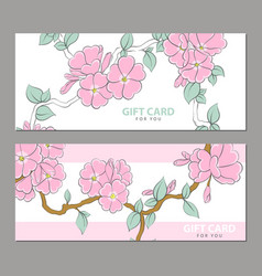 Gently pink flowers on a light background vector