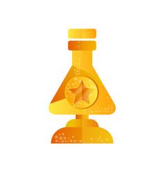 golden flask award trophy science vector image