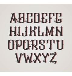 gothic label font Cognac style vector image