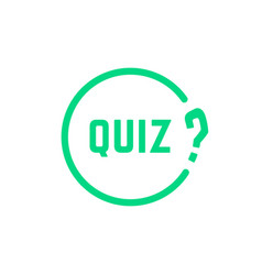 Green round simple quiz icon vector