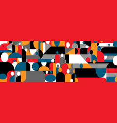 Group people abstract background design vector