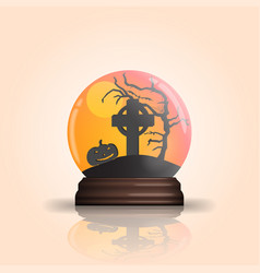 Halloween glass bowl vector