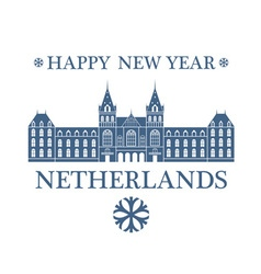 Happy New Year Netherlands vector image