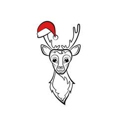 Head of a reindeer vector