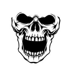 Head skull vector