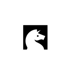 horse unicorn head logo icon vector image