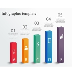infographic design template vector image