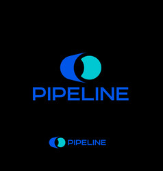 Logo pipeline plumbing pipe plant emblem vector