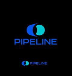Logo pipeline plumbing pipe plant emblem vector