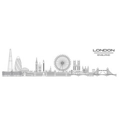 London skyline line art 8 vector