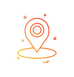 map location gps icon design vector image