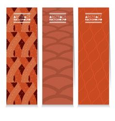 Modern Design Set Of Three Graphic Vertical Banner vector