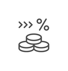 money percent line modern icon vector image