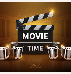Online movie and television background with vector