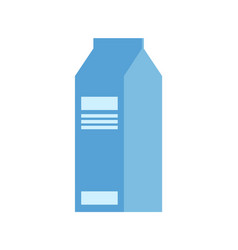 package of milk isolated icon dairy meal vector image