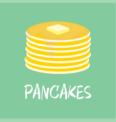 Pancake with butter vector