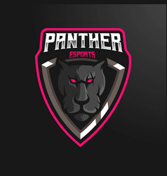Panther head logo vector