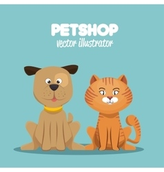 Petshop veterinary symbol icon vector