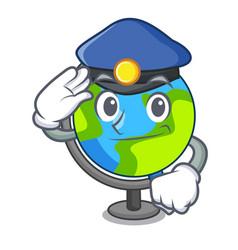 police globe character cartoon style vector image