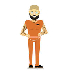 prisoner flat vector image
