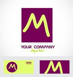 Purple letter m logo vector