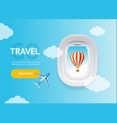 realistic detailed 3d travel and tourism banner vector image