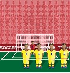 Romania Soccer Club Penalty on a Stadium vector image vector image