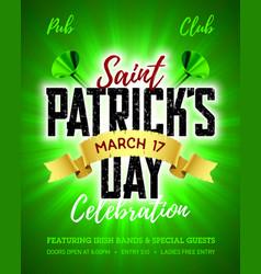 Saint patricks day 17 march feast saint vector