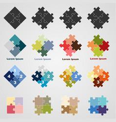 Set of puzzle symbols vector