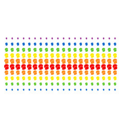 soldier helmet shape halftone spectral effect vector image