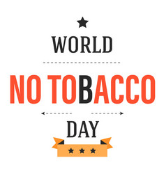 stop smoking world no tobacco day isolated icons vector image