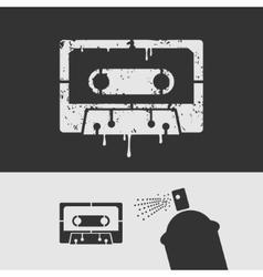 symbol stencil tape vector image
