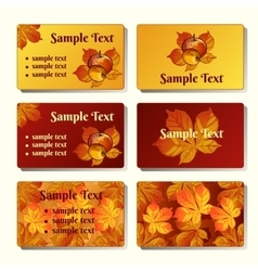 Templates and cards in the autumn style vector image